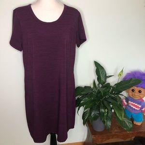 32 Degrees Cool Wine Pocket Tee Dress XL